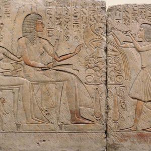 Egyptische reliëfdecoratie