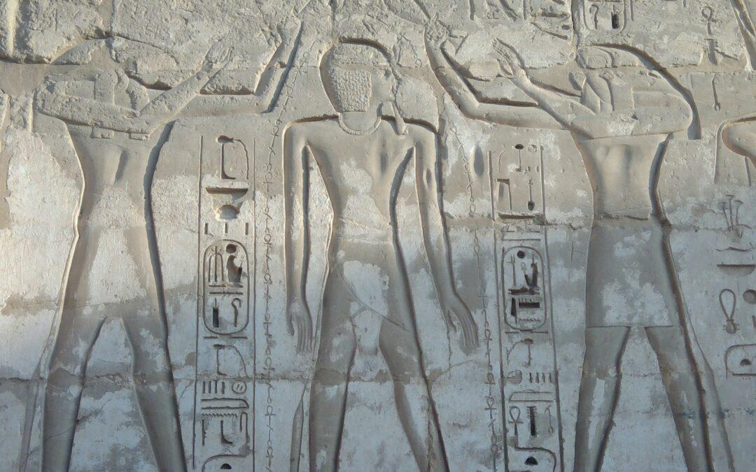 14 juli | Wierook en water voor de farao; rituele reinigingstaferelen in Egyptische tempeldecoratie