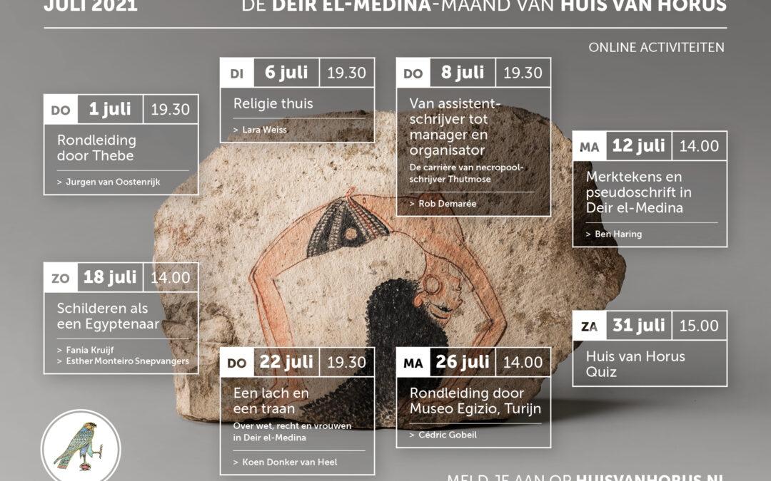 Juli 2021 | Ticket voor Deir el-Medina Maand